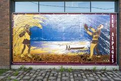 Eigentijdse Kunst in baie-heilige-Paul Stock Foto