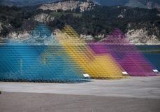 Eigentijdse kunstbeeldhouwwerken bij Cachuma-Meer Santa Barbara County Stock Foto's