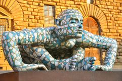 Eigentijdse kunsttentoonstelling in Florence, Italië royalty-vrije stock afbeeldingen