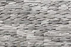 Eigentijdse muur van lichtgrijs, natuursteen Textuur Stock Foto's