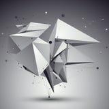 Eigentijdse techno zwart-witte modieuze bouw, abstra stock illustratie
