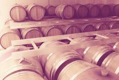 Eigentijdse wijnfabriek Stock Foto's