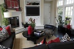 Eigentijdse woonkamer stock fotografie