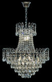 Eigentijdse zilveren die kroonluchter op zwarte achtergrond wordt geïsoleerd Crystal Chandelier royalty-vrije stock afbeeldingen