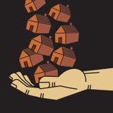 Eigentum in der Hand Stockfotos
