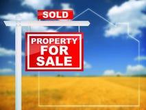 Eigentum für den Verkauf - verkauft Lizenzfreie Stockfotos