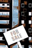 Eigentum für Verkaufs-Illustration Stockfotografie