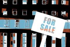 Eigentum für Verkaufs-Illustration Stockbild