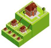 Eigentum-Strichleiter Stockfoto