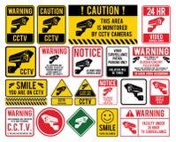 Eigentum wird durch Videoüberwachung geschützt Cctv Stockbild