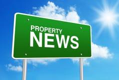 Eigentums-Nachrichten Stockfoto