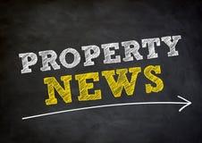 Eigentums-Nachrichten Stockfotos