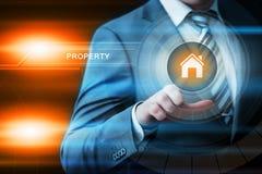 Eigentums-Vermögensverwaltung Real Estate vermarktet Internet-Geschäfts-Technologie-Konzept stockbilder