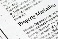 Eigentumsvermarkten Stockfotos