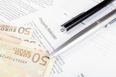 Eigentumsvertrag Lizenzfreie Stockfotos