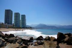 Eigentumswohnung durch den Strand Stockfoto