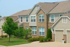 Eigentumswohnung-Häuser Stockbilder