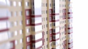 Eigentumswohnungs-Papiermodell stock video footage