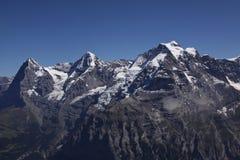 Eiger, Monch, Jungfrau 免版税库存照片