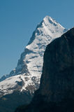 Eiger. View on Eiger from Lauterbrunnen valley stock photography