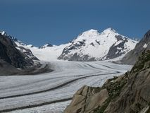 Eiger And Aletsch Glacier Stock Images