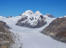 Eiger and Aletsch Glacier Royalty Free Stock Image