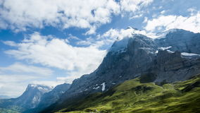 Eiger in Bernese Oberland in Switzerland - Time Lapse Video stock video footage