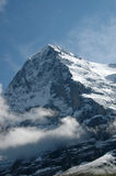 Eiger with clouds. Clouds around the Eiger top Royalty Free Stock Images