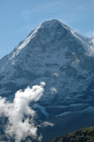 Eiger con le nubi Immagini Stock Libere da Diritti