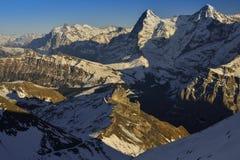Eiger en Monch van Zwitserse Alpen Royalty-vrije Stock Afbeelding