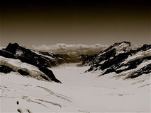 Eiger glaciär Royaltyfria Bilder