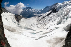 Eiger glacier panorama Stock Photography