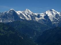 Eiger Mönch and Jungfrau Stock Photo