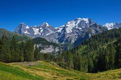Eiger, Mönch en Jungfrau royalty-vrije stock foto