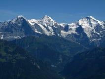 Eiger Mönch et Jungfrau Photo stock