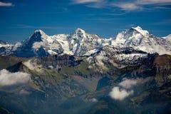 Eiger, Moench e Jungfrau immagini stock libere da diritti