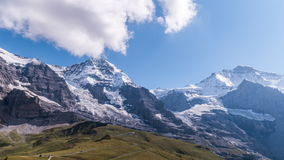 Eiger, Monch και Jungfrau - βίντεο χρονικού σφάλματος απόθεμα βίντεο