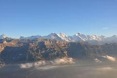 Eiger-Monch-Jungfrau Photo stock