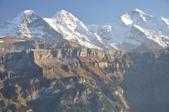 Eiger-Monch-Jungfrau Stock Photography