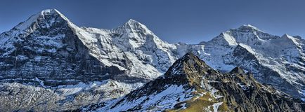 Eiger, Monch and Jungfrau Royalty Free Stock Photography