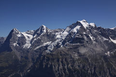 Eiger, Monch, Jungfrau. In the Bernese Oberland, Switzerland royalty free stock photos