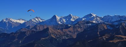 Eiger, Monch and Jungfrau Stock Photos