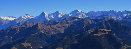Eiger, Monch and Jungfrau Stock Photography