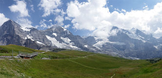 Eiger, Monch and Jungfrau mountains Stock Images