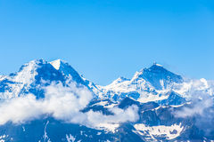 Eiger, Monch and Jungfrau Royalty Free Stock Photos