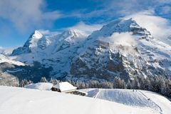 Eiger, Monch, and Jungfrau in Switzerland Royalty Free Stock Image
