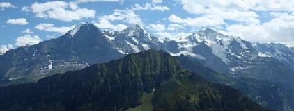 Eiger Monch Jungfrau Zwitzerland Stockbild