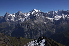 Eiger, Monch and Junfgrau. Eiger, Monch and Jungrau in the Swiss alps royalty free stock photography