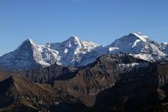 Eiger, Monch y Jungfrau Fotos de archivo libres de regalías