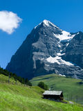 Eiger mountain in Switzerland. Panorama with Eiger mountain in Switzerland Alps royalty free stock images